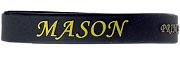 Masonic Silicon Wristband with Organization Name, Black