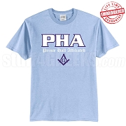 PHA T-Shirt, Light Blue - EMBROIDERED with Lifetime Guarantee
