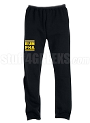 Masonic Run DMC Screen Printed Sweatpants, Black (AB)