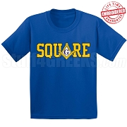 Square T-Shirt, Navy Blue - EMBROIDERED with Lifetime Guarantee
