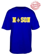Mason T-Shirt, Royal - EMBROIDERED with Lifetime Guarantee