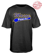 Mason with Prince Hall Tail T-Shirt - EMBROIDERED with Lifetime Guarantee