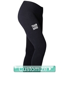 Custom Screen Printed Athletic Leggings with Text (BC)