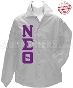 Nu Sigma Theta Greek Letter Line Jacket, Grey