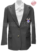 Nu Tau Beta Blazer Jacket with Crest, Dark Grey - EMBROIDERED with Lifetime Guarantee