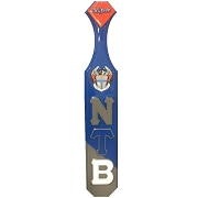 Nu Tau Beta Greek Letter and Crest Paddle With Gray