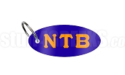 Nu Tau Beta Key Chain with Greek Letters, Royal Blue