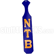 Nu Tau Beta Greek Letter Paddle with Royal Blue Glossy Wood