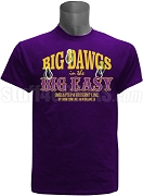 Omega Psi Phi Big Dawgs in the Big Easy 2018 Conclave Screen Printed T-Shirt, Purple