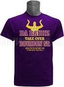 Omega Psi Phi Da Bruhz Take Over Bourbon 2018 Conclave Screen Printed T-Shirt, Purple