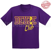Deuce Club T-Shirt, Purple/Old Gold - EMBROIDERED with Lifetime Guarantee