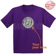 Dime Club T-Shirt, Purple - EMBROIDERED with Lifetime Guarantee