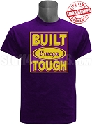 Built Tough Omega Psi Phi T-Shirt, Purple - EMBROIDERED with Lifetime Guarantee