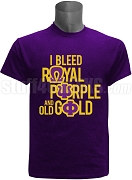 Omega Psi Phi I Bleed T-Shirt, Purple