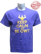 Omega Psi Phi Keep Calm T-Shirt, Purple - EMBROIDERED with Lifetime Guarantee