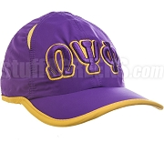 Omega Psi Phi Greek Letter Featherlight Golf Cap, Purple (SAV) - ON BACKORDER UNTIL LATE 2019