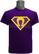 Purple Super Que Screen Printed T-Shirt