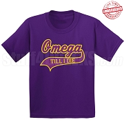 Omega Till I Die T-Shirt, Purple - EMBROIDERED with Lifetime Guarantee