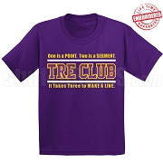 Omega Psi Phi Tre Club (Gen1) T-Shirt, Purple - EMBROIDERED with Lifetime Guarantee