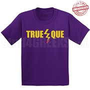 True Que T-Shirt, Purple - EMBROIDERED with Lifetime Guarantee