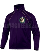 Omega Psi Phi Large Crest Track Jacket, Purple (BAW)