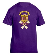 Omega Psi Phi School Daze Screen Printed T-Shirt, Purple