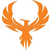 Orange Fire Bird Patch