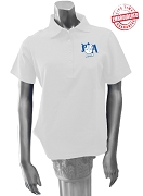 Pershing Angels Polo Shirt with Crest, White