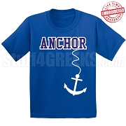 Anchor T-Shirt, Royal/White - EMBROIDERED with Lifetime Guarantee