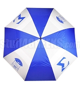 Phi Beta Sigma Auto Open Golf Umbrella with Shield and Centaur, Royal Blue/White (NS)