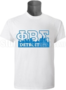 Phi Beta Sigma 2017 Detroit Conference Screen Printed T-Shirt, White