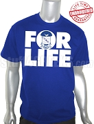 Phi Beta Sigma FOR LIFE T-Shirt, Royal Blue - EMBROIDERED with Lifetime Guarantee