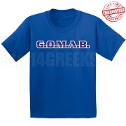 G.O.M.A.B. T-Shirt, Royal - EMBROIDERED with Lifetime Guarantee