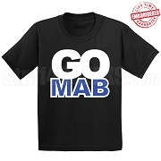 GO MAB T-Shirt, BLACK - EMBROIDERED with Lifetime Guarantee