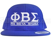 Phi Beta Sigma Greek Letter Snapback Cap, Royal Blue (SAV)