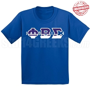 1 Phi 9 Beta 1 Sigma 4 T-Shirt, Royal - EMBROIDERED with Lifetime Guarantee