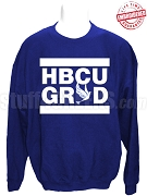 Phi Beta Sigma HBCU Grad Crewneck Sweatshirt, Royal Blue - EMBROIDERED with Lifetime Guarantee