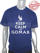 Phi Beta Sigma Keep Calm T-Shirt, Royal Blue - EMBROIDERED with Lifetime Guarantee