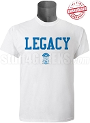 Phi Beta Sigma Legacy T-Shirt, White - EMBROIDERED with Lifetime Guarantee