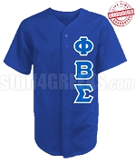 Phi Beta Sigma Greek Letter Cloth Baseball Jersey, Royal Blue (TW) - EMBROIDERED WITH LIFETIME GUARANTEE
