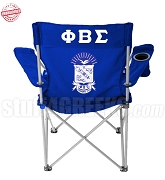 Phi Beta Sigma Crest Lawn Chair with Greek Letter Royal Blue - EMBROIDERED WITH LIFETIME GUARANTEE