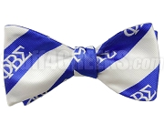 Phi Beta Sigma Striped Greek Letter Bow Tie, Royal Blue/White (NS)