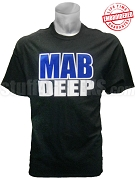 Phi Beta Sigma Mab Deep T-Shirt, Black - EMBROIDERED with Lifetime Guarantee