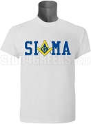 Phi Beta Sigma/Mason Square and Compass T-Shirt, White