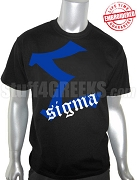 Phi Beta Sigma Big Letter Old English T-Shirt, Black - EMBROIDERED with Lifetime Guarantee