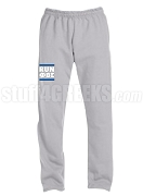 Phi Beta Sigma Run DMC Screen Printed Sweatpants, Sports Grey (AB)