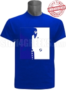 Phi Beta Sigma Scarface T-Shirt, Royal Blue - EMBROIDERED with Lifetime Guarantee