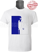 Phi Beta Sigma Scarface T-Shirt, White - EMBROIDERED with Lifetime Guarantee