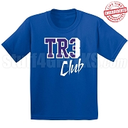 Tre Club T-Shirt, Royal/White - EMBROIDERED with Lifetime Guarantee