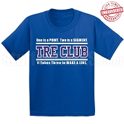 Royal/White Tre Club (Gen1) T-Shirt, Royal - EMBROIDERED with Lifetime Guarantee